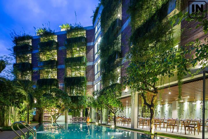 Khách sạn 5 sao với không gian xanh