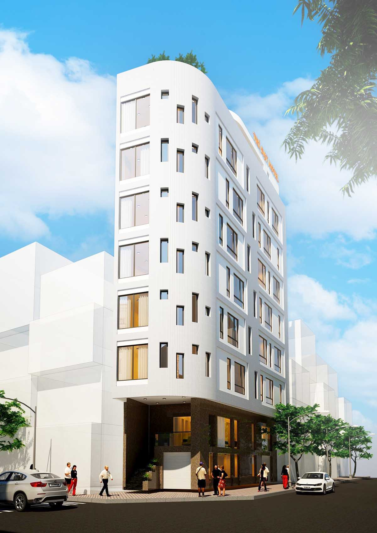 Khách sạn 5x20m với 7 tầng (Ảnh: Internet)