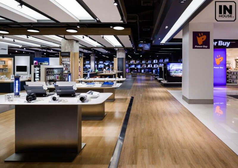 Showroom điện máy với không gian hiện đại