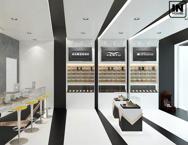 Showroom điện máy có thiết kế hiện đại phù hợp với xu hướng
