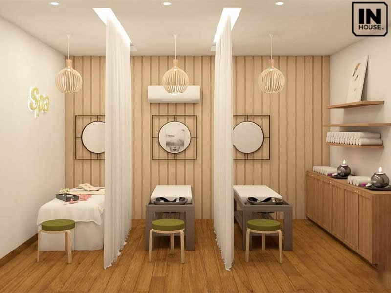 Thiết kế spa phong cách tối giản