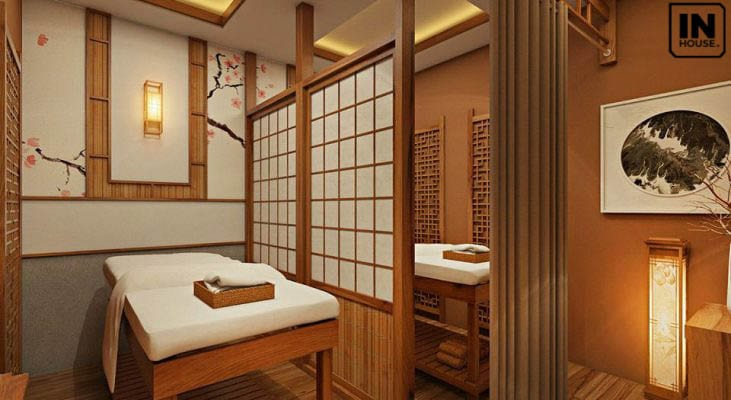 Thiết kế spa phong cách Nhật Bản