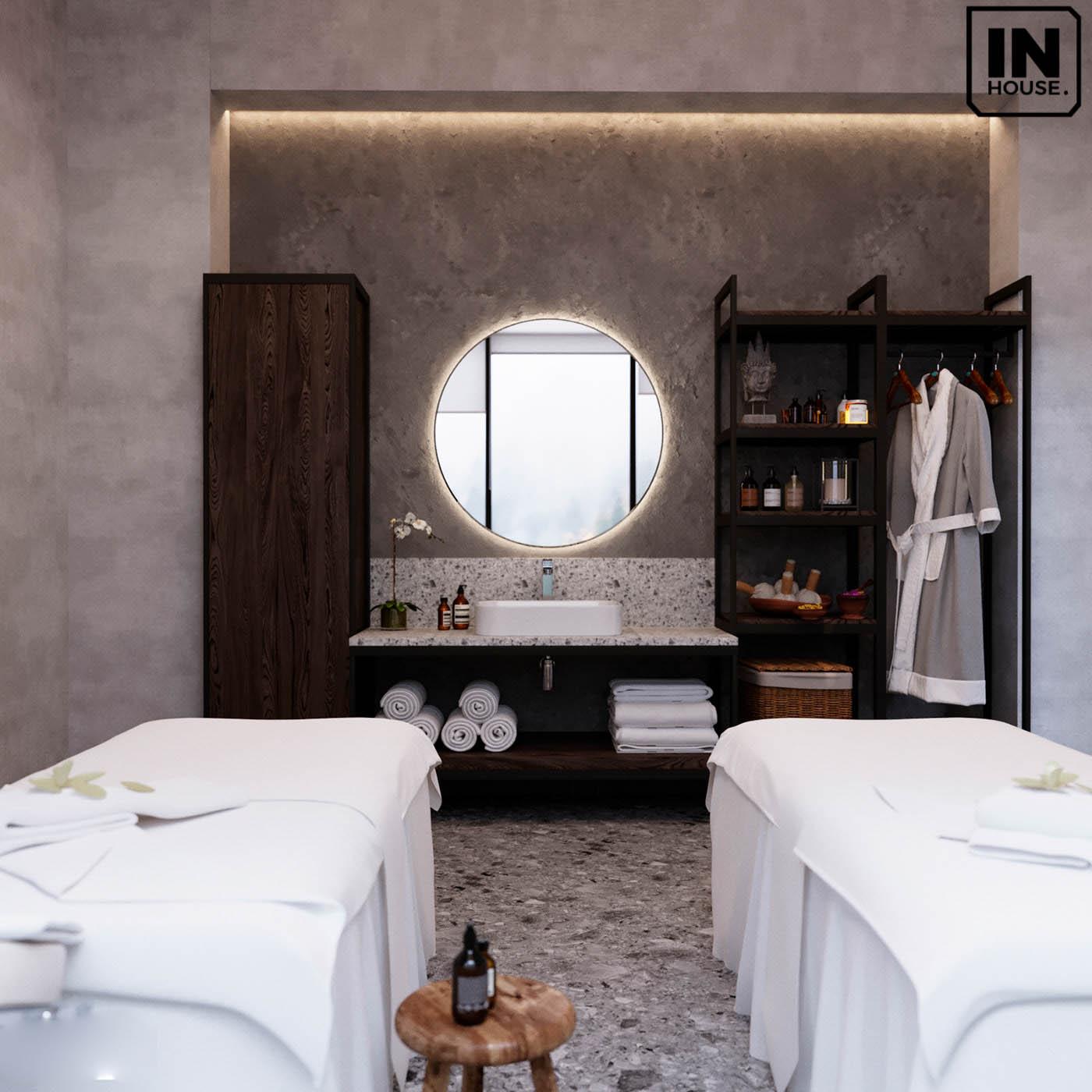 Trang trí phòng massage