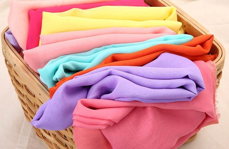 Vải voan đa dạng màu sắc