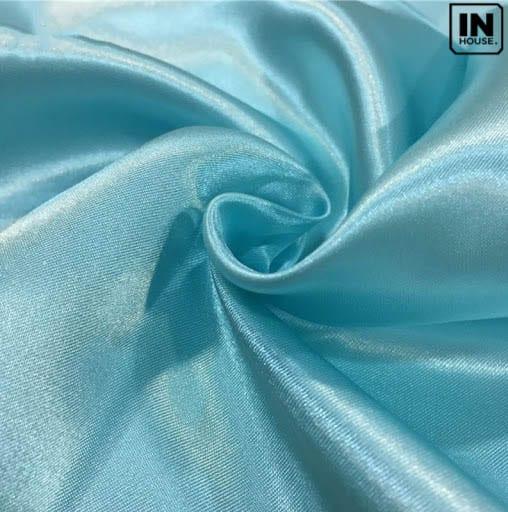 Vải voan xanh dương