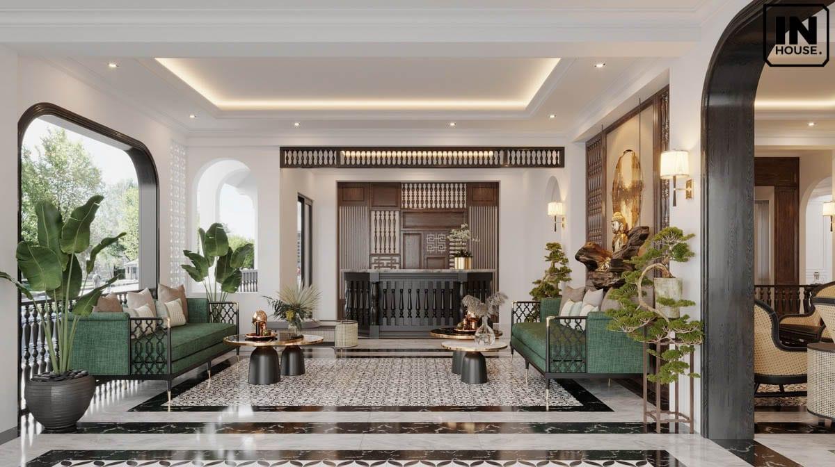 Thiết kế phòng khách theo phong cách Indochine Style