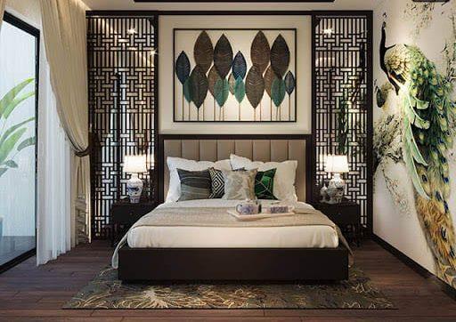 Thiết kế phòng ngủ theo phong cách Indochine Style