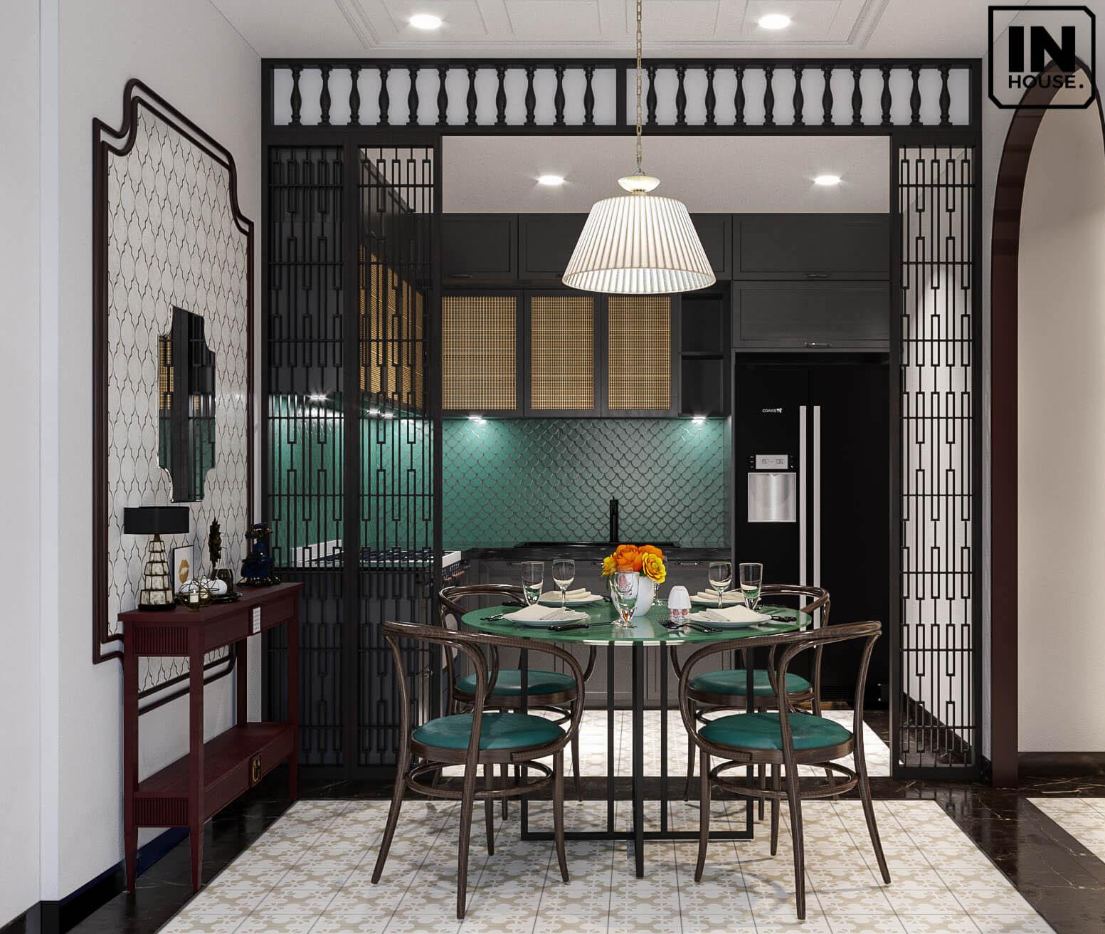 Thiết kế nhà bếp theo phong cách Indochine Style