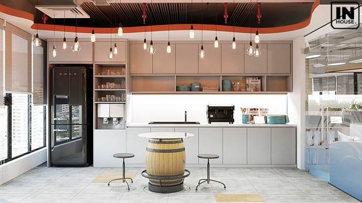 Thiết kế pantry văn phòng hiện đại