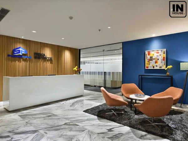 Thiết kế văn phòng nhà đất có không gian thoải mái