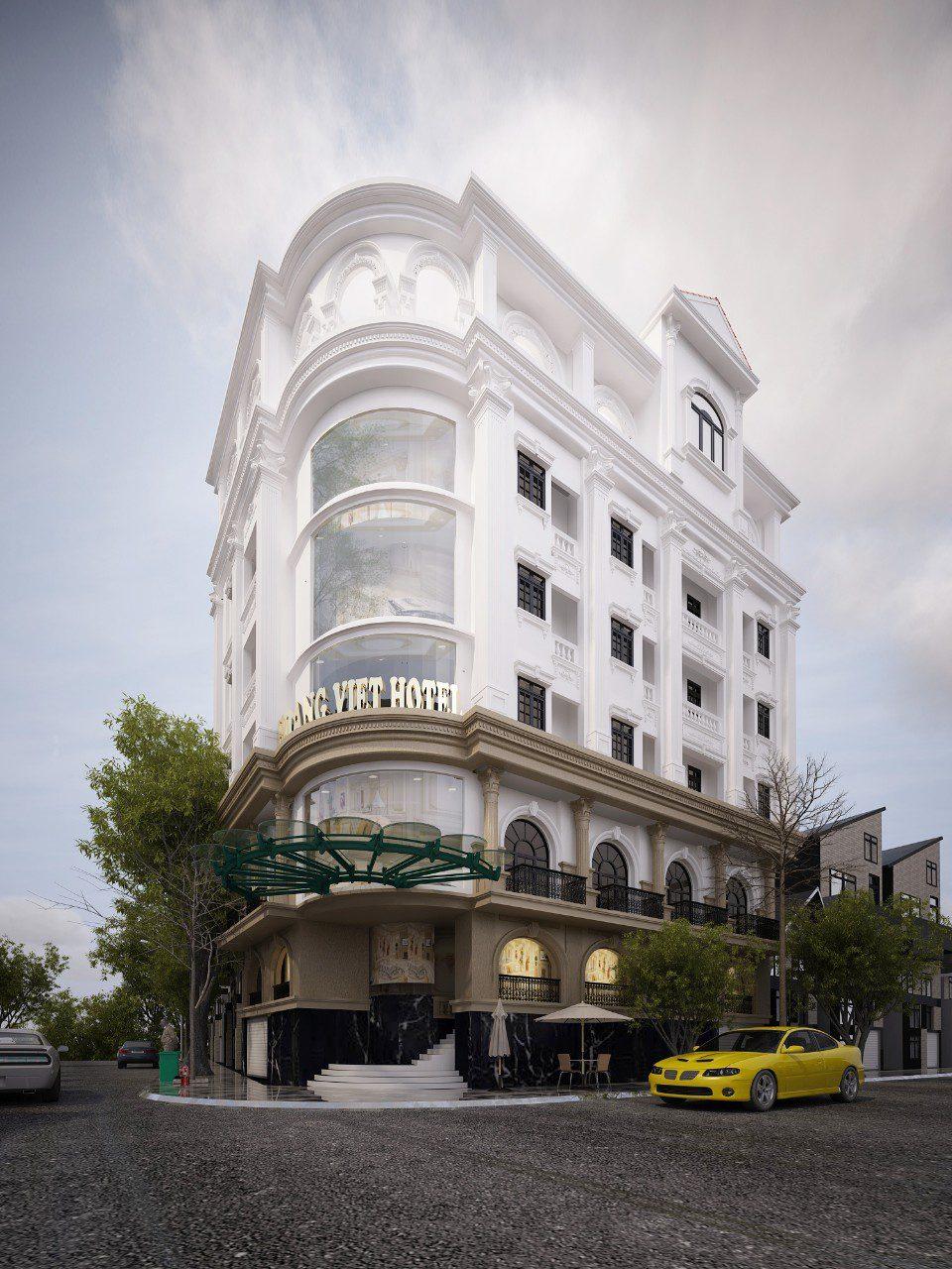 Thiết kế khách sạn 7 tầng phong cách tân cổ điển (Ảnh: Internet)