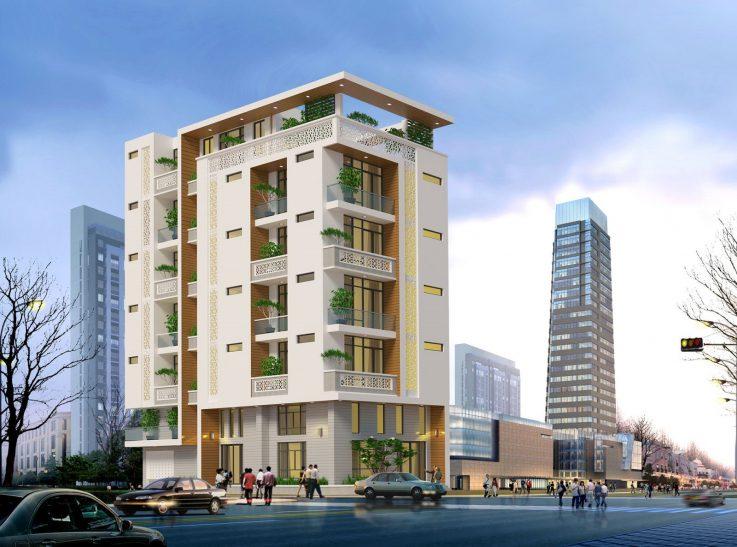 Thiết kế khách sạn 7 tầng ( Nguồn ảnh: Internet )