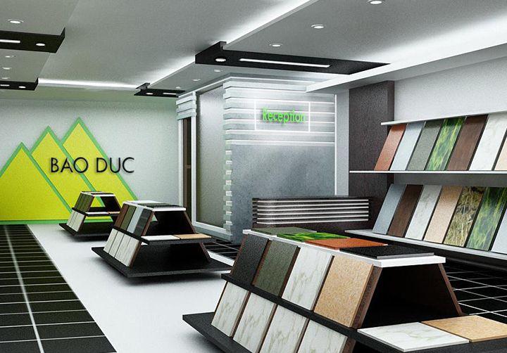 Mẫu thiết kế showroom gạch ốp lát (Ảnh: Internet)