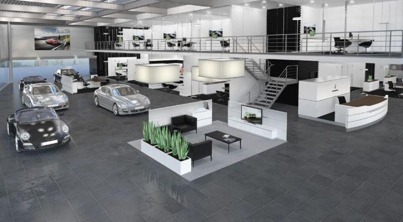 Thiết kế showroom ô tô (Ảnh: Internet)